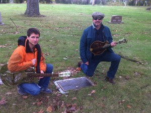 Tampa Red's Grave with Arlo
